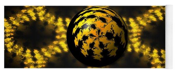 3d Fractal Ball Yoga Mat