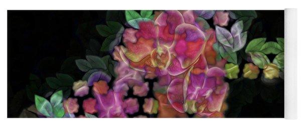 3d Orchids Yoga Mat