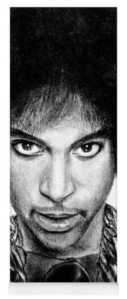 3rd Eye Girl - Prince Charcoal Portrait Drawing - Ai P Nilson Yoga Mat