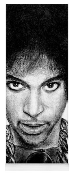 3rd Eye Girl - Prince Charcoal Portrait Drawing - Ai P Nilson Yoga Mat