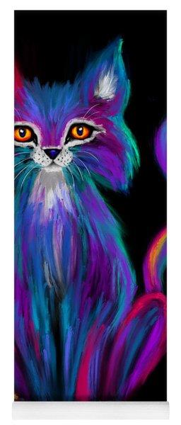 Colorful Cat Yoga Mat