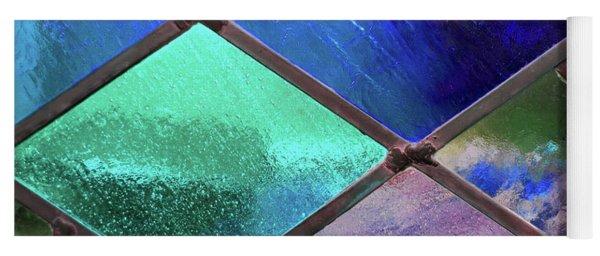 Diamond Pane Glass Blue Yoga Mat