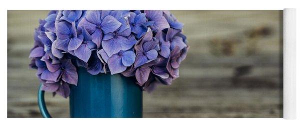 Hortensia Flowers Yoga Mat