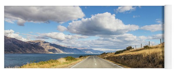 On  The Road In New Zealand Yoga Mat