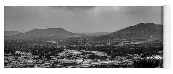 Roanoke City As Seen From Mill Mountain Star At Dusk In Virginia Yoga Mat