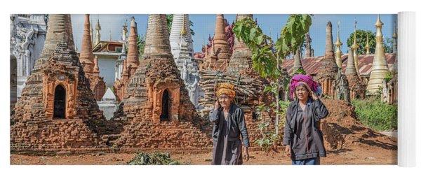 Shwe Indein Pagoda - Myanmar Yoga Mat