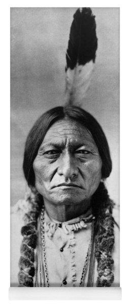 Sitting Bull 1834-1890. To License For Professional Use Visit Granger.com Yoga Mat