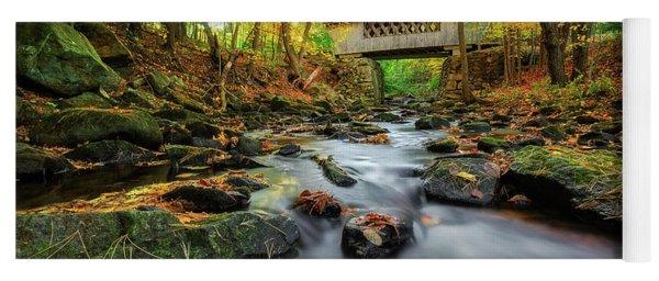 Tannery Hill Covered Bridge Yoga Mat