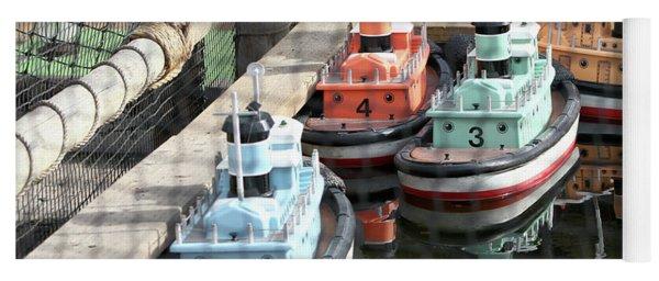4 Toy Boats Yoga Mat