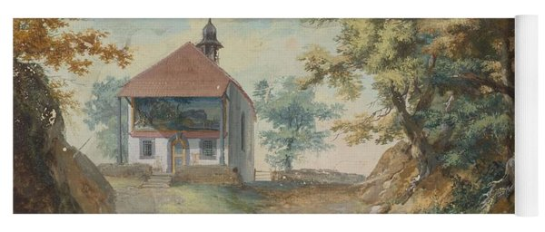 Yoga Mat featuring the painting 4196386  Carl Brandt   1871 1930  Landscape by Artistic Panda