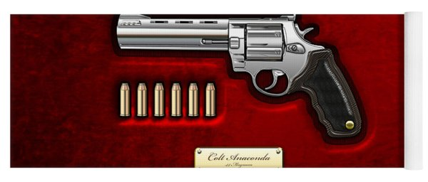 .44 Magnum Colt Anaconda On Red Velvet  Yoga Mat