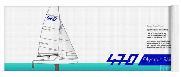 470 Olympic Sailing Yoga Mat