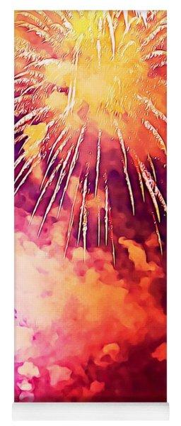 4th Of July Fireworks Yoga Mat