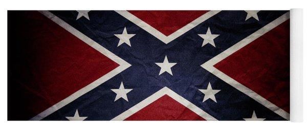 Confederate Flag 8 Yoga Mat