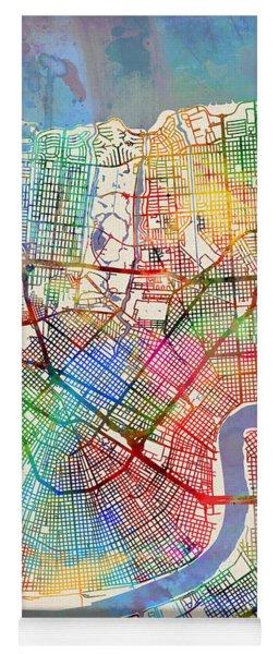 New Orleans Street Map Yoga Mat