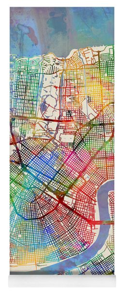 New Orleans Street Map Yoga Mat