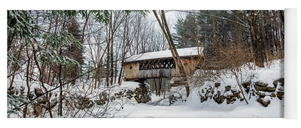 Tannery Hill Covered Bridge Yoga Mat