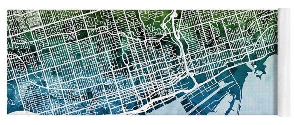 Toronto Street Map Yoga Mat