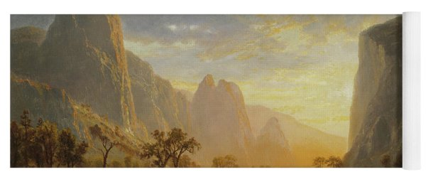 Valley Of The Yosemite Yoga Mat