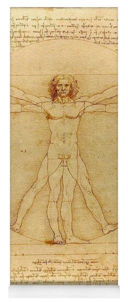Vitruvian Man Yoga Mat