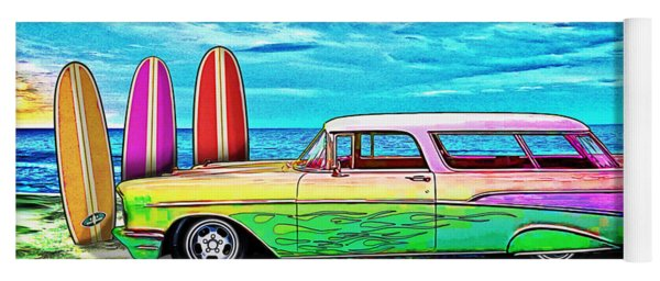 57 Chevy Nomad Wagon Best Part Of Waking Up Yoga Mat