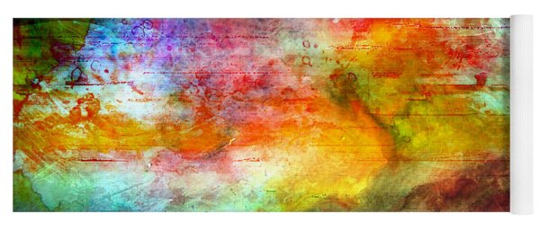 5a Abstract Expressionism Digital Painting Yoga Mat
