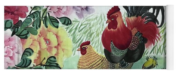 Chinese Painting Yoga Mat