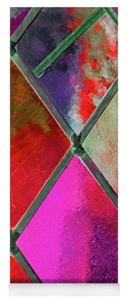 Diamond Pane Red Yoga Mat