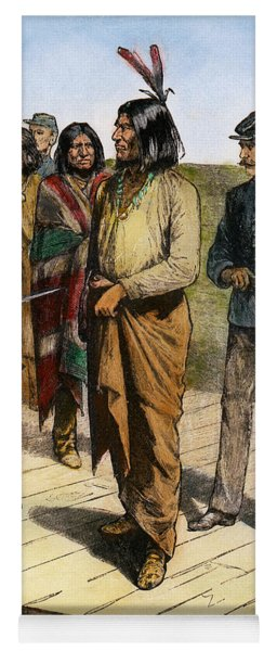 Geronimo 1829-1909.  To License For Professional Use Visit Granger.com Yoga Mat