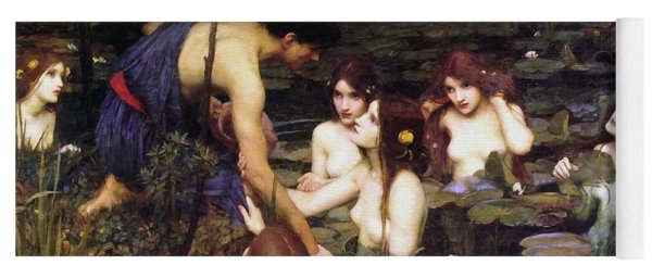 Hylas And The Nymphs Yoga Mat