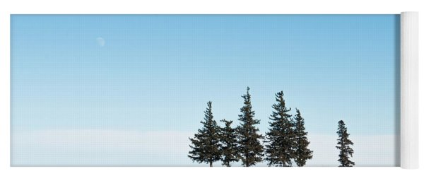 6 Pines And The Moon Yoga Mat