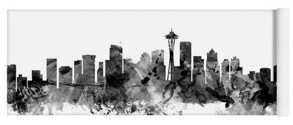 Seattle Washington Skyline Yoga Mat