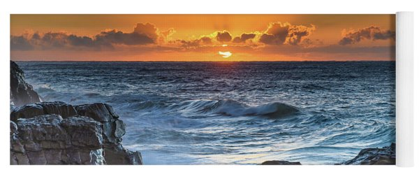 Sunrise Seascape With Sun Yoga Mat