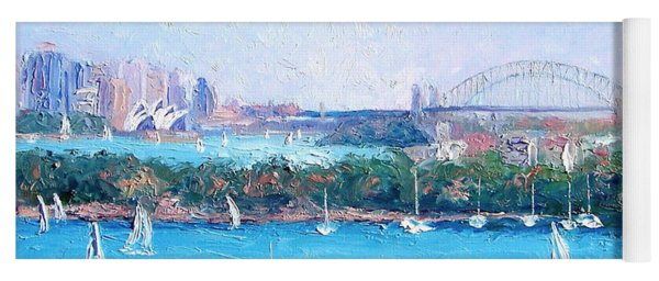 Sydney Harbour And The Opera House By Jan Matson Yoga Mat