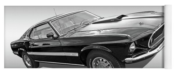 69 Mach1 In Black And White Yoga Mat