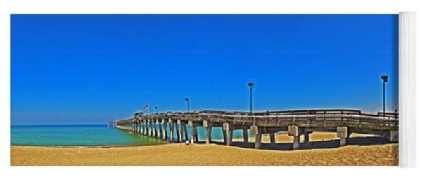 6x1 Venice Florida Beach Pier Yoga Mat