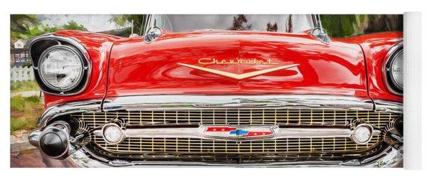 1957 Chevrolet Bel Air 283 Painted  Yoga Mat