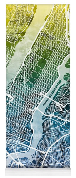 New York City Street Map Yoga Mat