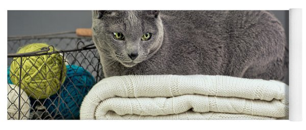 Russian Blue Yoga Mat