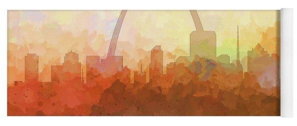 St Louis Missouri Skyline Yoga Mat