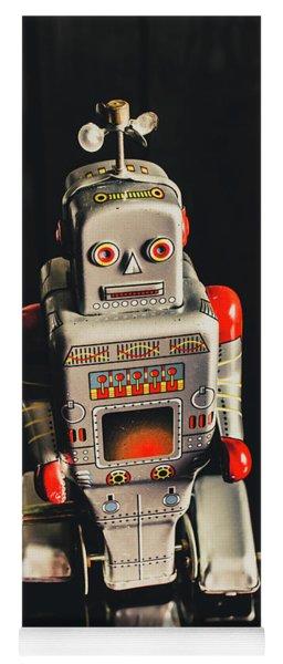 70s Mechanical Android Bot  Yoga Mat