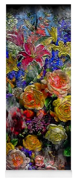 7a Abstract Floral Painting Digital Expressionism Yoga Mat