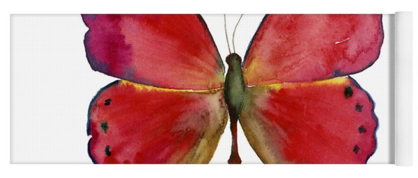 83 Red Glider Butterfly Yoga Mat