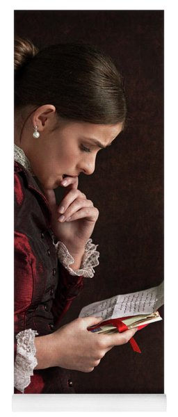 Victorian Woman Reading A Letter Yoga Mat