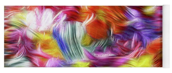 9a Abstract Expressionism Digital Painting Yoga Mat