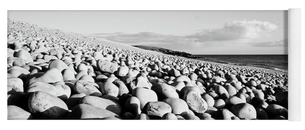 A Beach Of Stones Yoga Mat