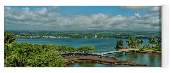 Yoga Mat featuring the photograph A Beautiful Day Over Hilo Bay by Christopher Holmes