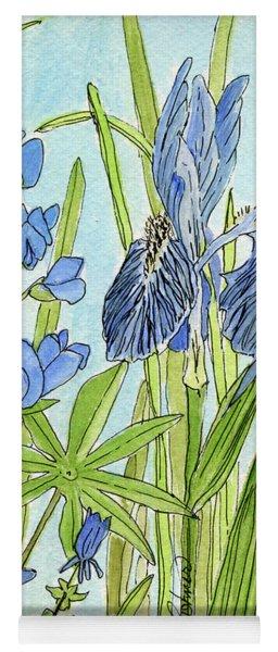 A Blue Garden Yoga Mat