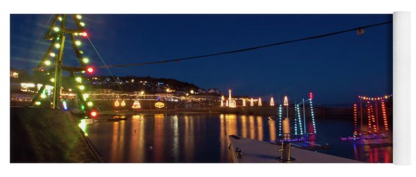 A Boat's View Of Mousehole Christmas Lights Yoga Mat