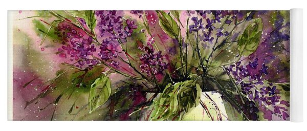 A Bouquet Of May-lilacs Yoga Mat